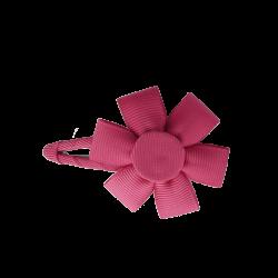 Pinza flor fucsia