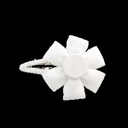 Pinza flor blanco