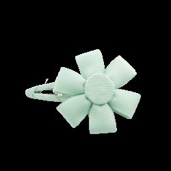 Pinza flor aguamarina