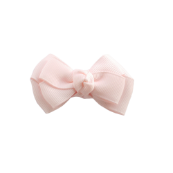 Pinza lazo mediano doble rosa