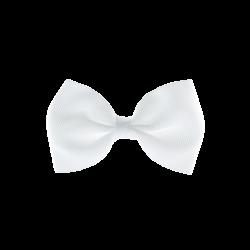 Coletero lazo pajarita blanco