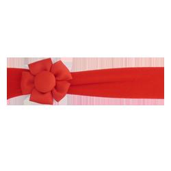 Felpa ancha con flor rojo