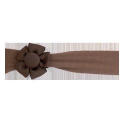 Felpa ancha con flor chocolate