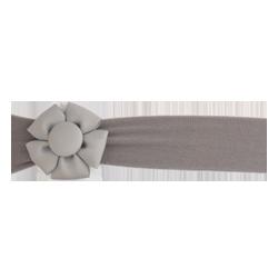 Felpa ancha con flor gris