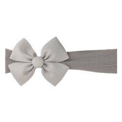 Felpa ancha lazo mariposa gris