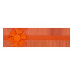 Felpa fina flor naranja