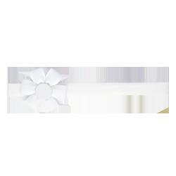 Felpa fina flor blanco