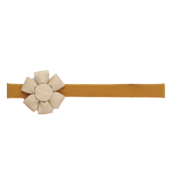 Felpa fina flor camel