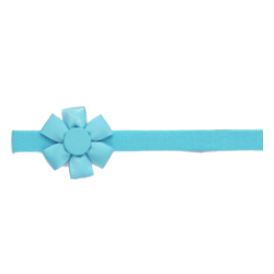 Felpa fina flor turquesa