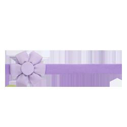 Felpa fina flor lila