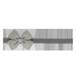 Felpa fina lazo mariposa gris