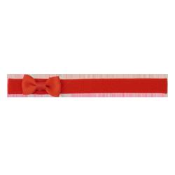 Felpa fina lazo pajarita rojo