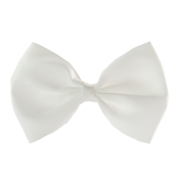 Lazo pajarita grande blanco
