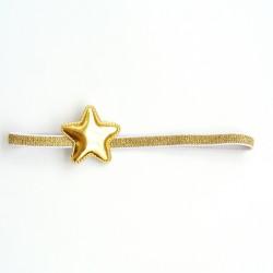Felpa fina estrella dorada