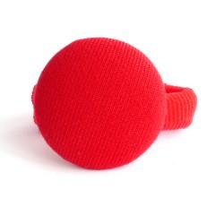 Botón forrado rojo