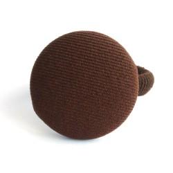 Botón forrado chocolate