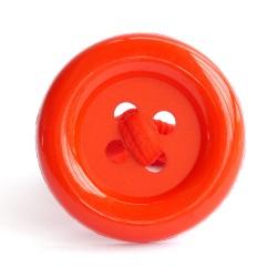 Botón acrílico grande rojo