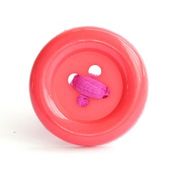 Botón acrílico grande fucsia