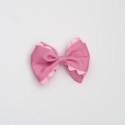 Lazo doble ondulina rosa palo