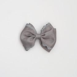 Lazo doble ondulina gris