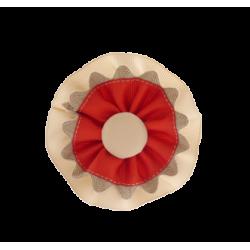 Coletero rosetones camel-rojo