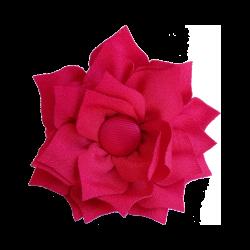 Flor de tela rojo