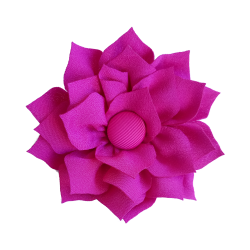Flor de tela fucsia