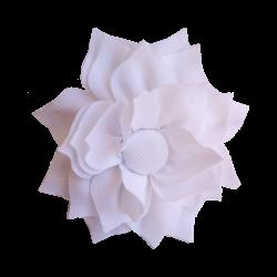 Flor de tela blanco