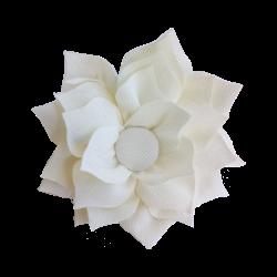 Flor de tela beige