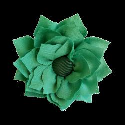 Flor de tela verde