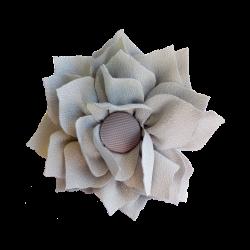 Flor de tela gris