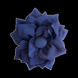 Flor de tela marino