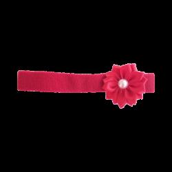 Flor con perla roja