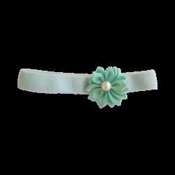 Flor con perla aguamarina