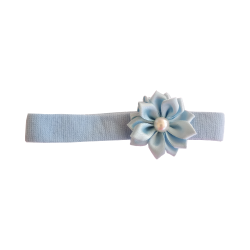 Flor con perla celeste