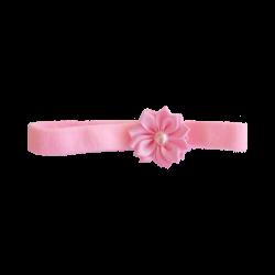Flor con perla rosa