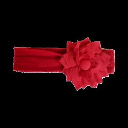 Flor tela rojo