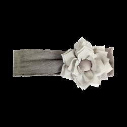 Flor tela gris