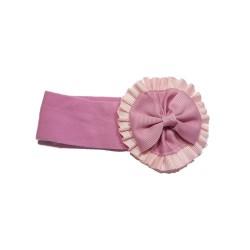 Felpa ancha Rosetón rosa palo