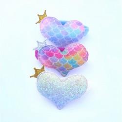 Corazón sirena Multicolor...